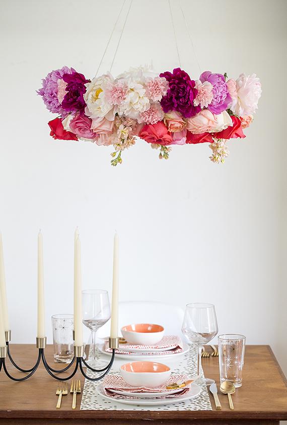lampara de flores