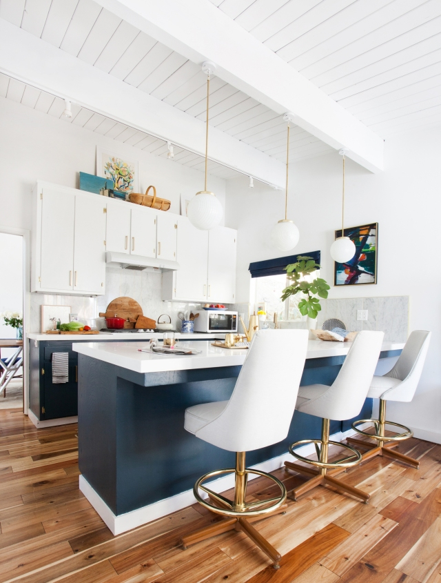 kitchen_after-emily-henderson-blue-white-brass-stools-overall