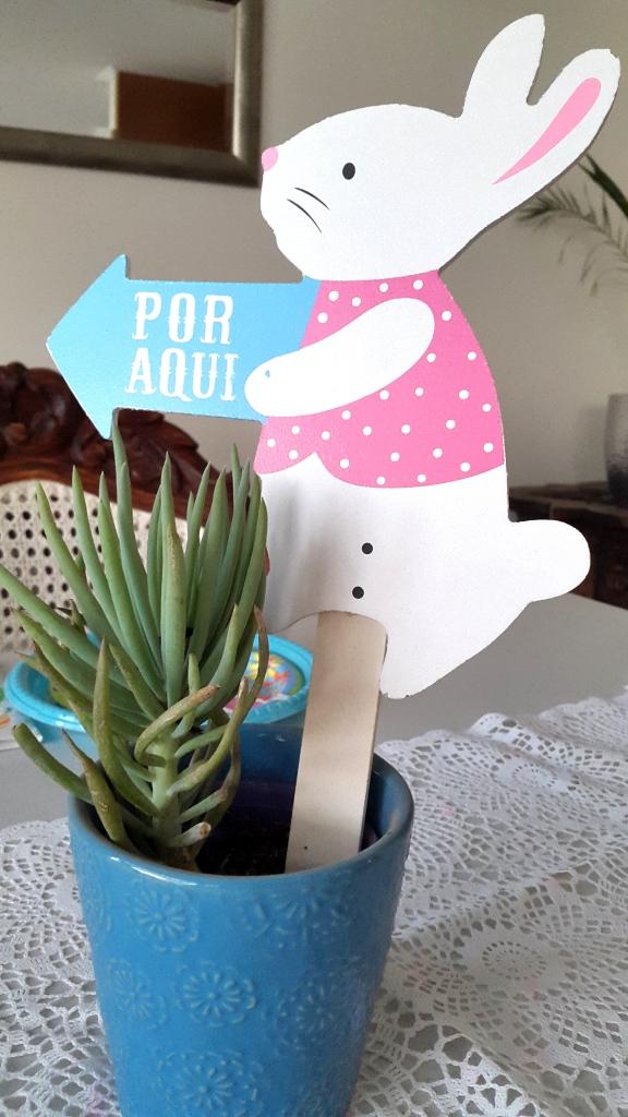 mesa pascua conejo señal