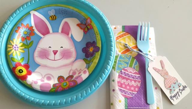mesa pascua plato niño