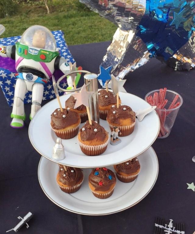 cupcakes cumpleaños estrellas