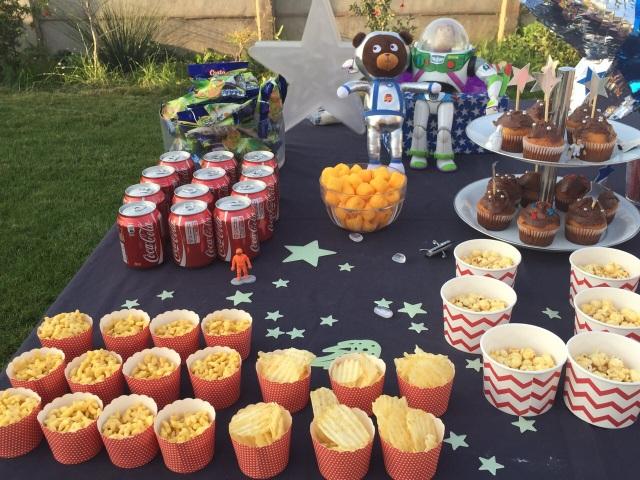 comida cumpleaños estrellas
